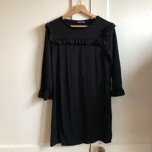 Zara Collection Black Ruffle Detailed Mini Dress